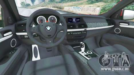 GTA 5 BMW X6 M (E71) arrière droit vue de côté