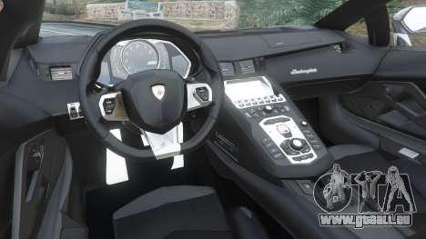 GTA 5 Lamborghini Aventador LP700-4 Police v4.5 rechte Seitenansicht