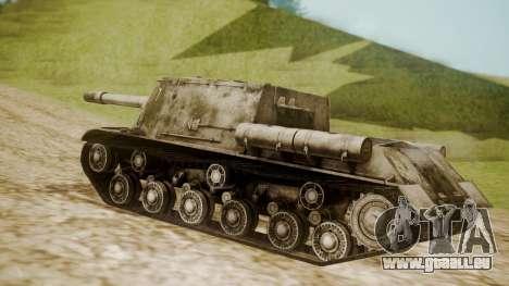 ISU-152 Snow from World of Tanks für GTA San Andreas linke Ansicht