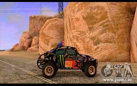 VW Baja Buggy Gymkhana 6 für GTA San Andreas zurück linke Ansicht