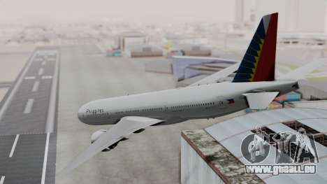 Boeing 777-200LR Philippine Airlines für GTA San Andreas linke Ansicht