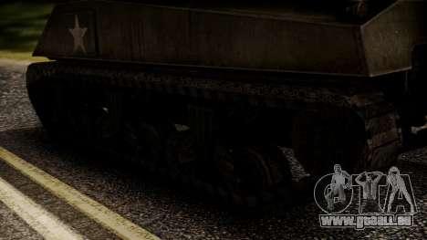M4A3 Sherman für GTA San Andreas zurück linke Ansicht
