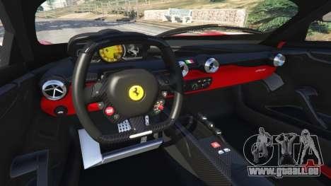 GTA 5 Ferrari FXX-K 2015 v1.1 arrière droit vue de côté