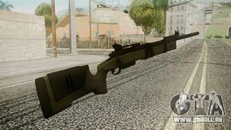 M40A5 Battlefield 3 pour GTA San Andreas deuxième écran