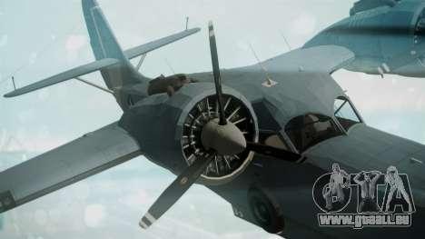 Grumman G-21 Goose Military für GTA San Andreas rechten Ansicht