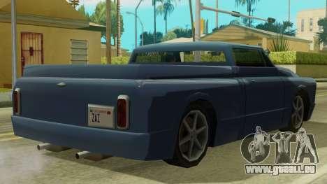 Kounts Pickup PaintJob pour GTA San Andreas sur la vue arrière gauche