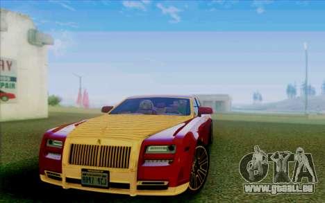 Rolls-Royce Ghost Mansory für GTA San Andreas Seitenansicht
