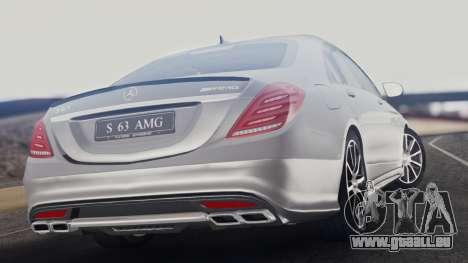 Mercedes-Benz W222 S63 AMG pour GTA San Andreas laissé vue