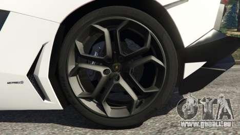 Lamborghini Aventador LP700-4 Police v4.0 pour GTA 5