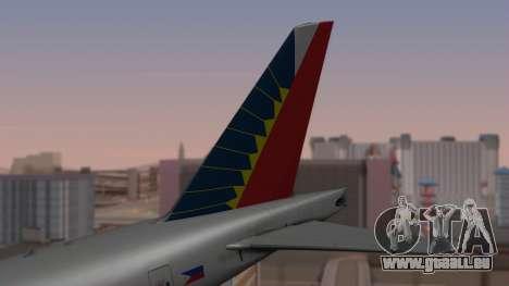 Boeing 777-200LR Philippine Airlines pour GTA San Andreas sur la vue arrière gauche