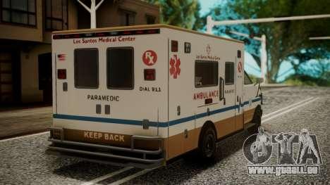 GTA 5 Brute Ambulance IVF für GTA San Andreas linke Ansicht