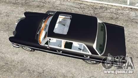 GTA 5 Mercedes-Benz 300SEL 6.3 v1.2.3 Rückansicht