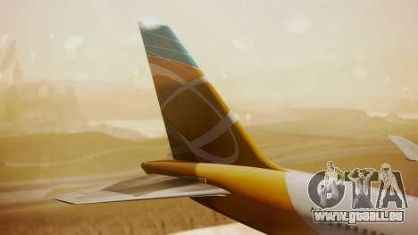 Boeing 767-300 Orbit Airlines für GTA San Andreas zurück linke Ansicht