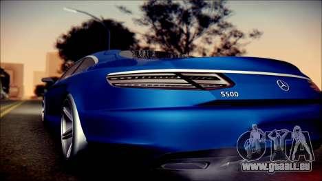 Mercedes-Benz S Coupe Vossen cv5 2014 pour GTA San Andreas sur la vue arrière gauche