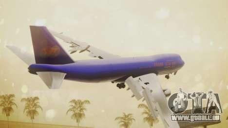Boeing 747-200 Trans GTA Air für GTA San Andreas linke Ansicht