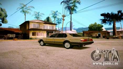 BMW 735il E32 1992 pour GTA San Andreas vue de droite