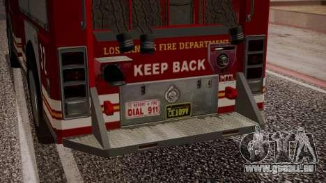 GTA 5 MTL Firetruck IVF für GTA San Andreas obere Ansicht