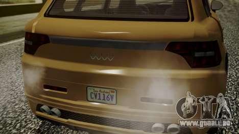 GTA 5 Obey Rocoto pour GTA San Andreas sur la vue arrière gauche