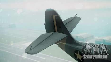 Grumman G-21 Goose Military pour GTA San Andreas sur la vue arrière gauche