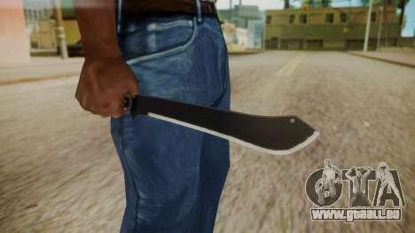 GTA 5 Machete (From Lowider DLC) pour GTA San Andreas troisième écran