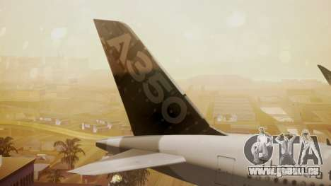 Airbus 350-900XWB Around The World pour GTA San Andreas sur la vue arrière gauche