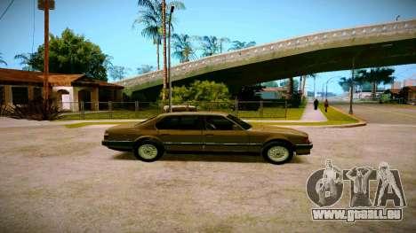 BMW 735il E32 1992 pour GTA San Andreas vue arrière