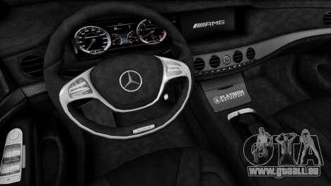 Mercedes-Benz W222 S63 AMG pour GTA San Andreas vue de droite