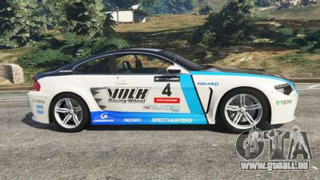 GTA 5 BMW M6 (E63) WideBody v0.1 [Volk Racing Wheel] vue latérale gauche