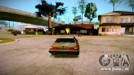 BMW 735il E32 1992 pour GTA San Andreas laissé vue