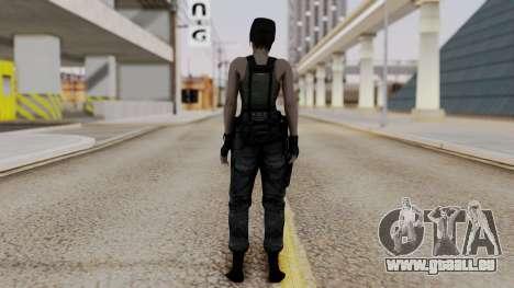 Resident Evil Remake HD - Jill Valentine (Army) für GTA San Andreas dritten Screenshot