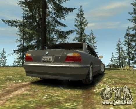 BMW L7 (750IL E38) 2001 pour GTA 4 est une gauche
