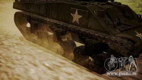 M4A3(76)W Sherman pour GTA San Andreas sur la vue arrière gauche