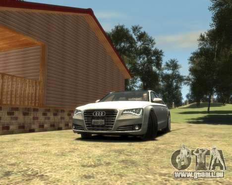Audi A8L W12 2013 für GTA 4 hinten links Ansicht