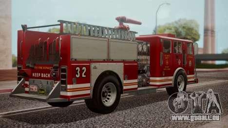GTA 5 MTL Firetruck IVF für GTA San Andreas linke Ansicht