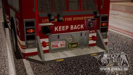 GTA 5 MTL Firetruck IVF für GTA San Andreas Unteransicht
