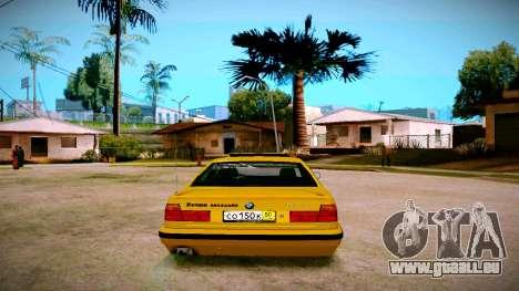 BMW 525tds E34 Russian Taxi pour GTA San Andreas sur la vue arrière gauche