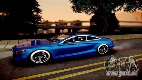 Mercedes-Benz S Coupe Vossen cv5 2014 pour GTA San Andreas laissé vue