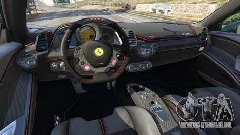 GTA 5 Ferrari 458 Italia 2009 v1.5 rechte Seitenansicht