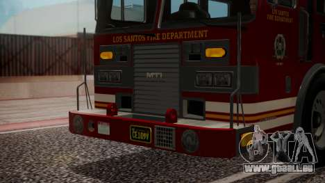 GTA 5 MTL Firetruck IVF für GTA San Andreas Seitenansicht