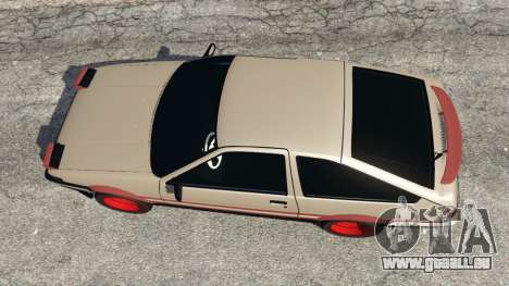 GTA 5 Toyota AE86 Sprinter [Beta] vue arrière