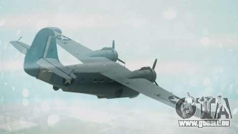 Grumman G-21 Goose Military für GTA San Andreas linke Ansicht