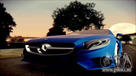 Mercedes-Benz S Coupe Vossen cv5 2014 pour GTA San Andreas vue arrière