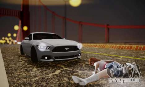 Ford Mustang GT 2015 Stock pour GTA San Andreas vue intérieure