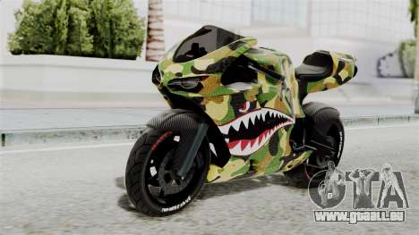 Bati Motorcycle Camo Shark Mouth Edition für GTA San Andreas