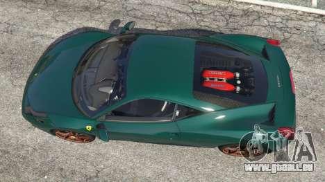 GTA 5 Ferrari 458 Italia 2009 v1.5 vue arrière