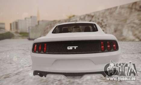 Ford Mustang GT 2015 Stock für GTA San Andreas zurück linke Ansicht