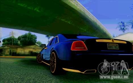 Rolls-Royce Ghost Mansory für GTA San Andreas rechten Ansicht