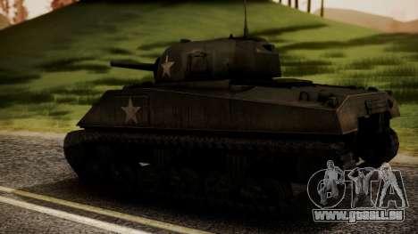 M4A3 Sherman pour GTA San Andreas laissé vue