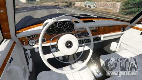 GTA 5 Mercedes-Benz 300SEL 6.3 v1.2.3 rechte Seitenansicht