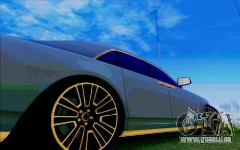 Rolls-Royce Ghost Mansory für GTA San Andreas Unteransicht
